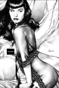 BETTIE PAGE #1 UNKNOWN COMICS JAY ANACLETO BLACK AND WHITE VIRGIN VAR (07/15/2020) BACKISSUE