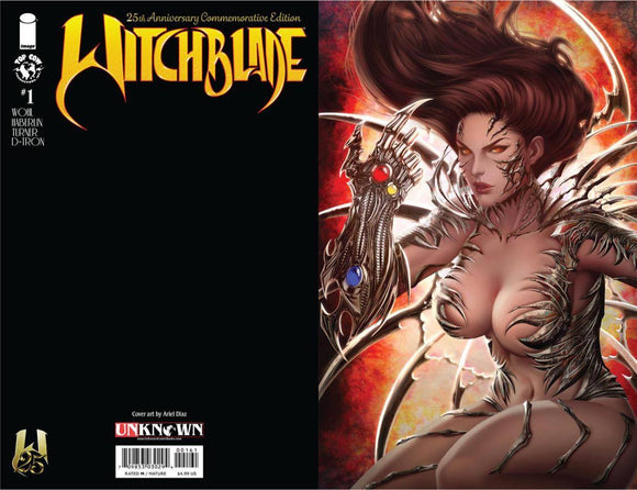 WITCHBLADE #1 25TH ANNV ED UNKNOWN COMICS ARIEL DIAZ VIRGIN EXCLUSIVE (08/10/20) BACKISSUE