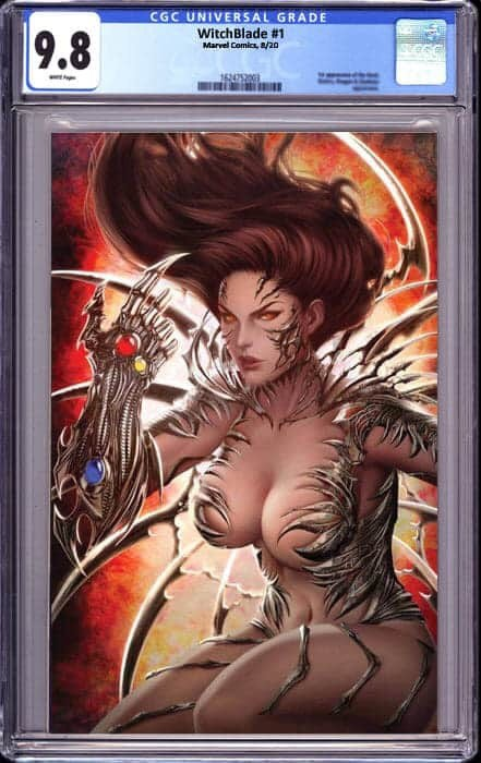 WITCHBLADE #1 25TH ANNV ED UNKNOWN COMICS ARIEL DIAZ VIRGIN EXCLUSIVE (10/10/20) CGC 9.8
