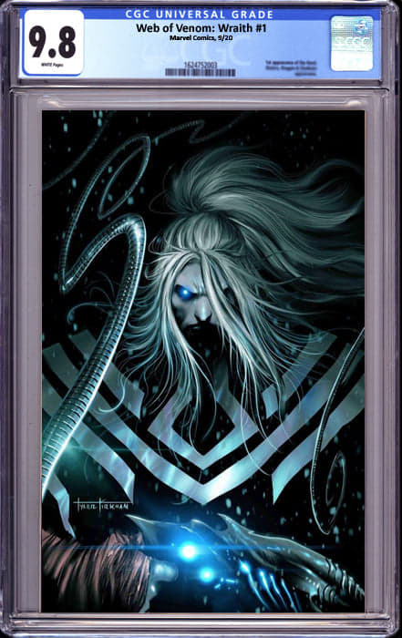 WEB OF VENOM WRAITH #1 TYLER KIKRHAM UNKNOWN ILLUMINATI VIRGIN EXCLUSIVE INSTOCK CGC 9.8