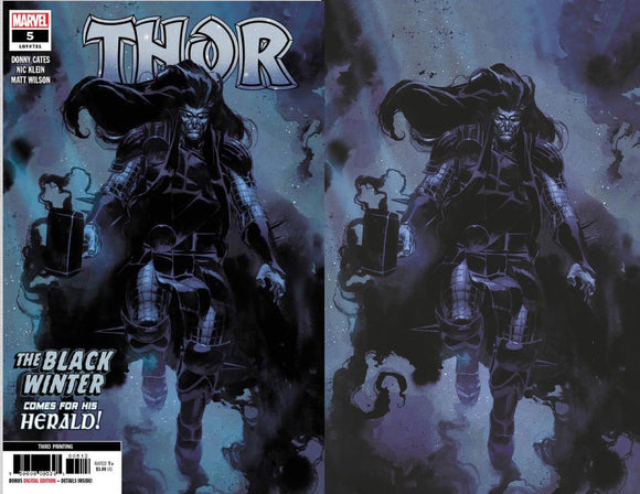 THOR #5 3RD PTG UNKNOWN ILLUMINATI BUNDLE 09/02/2020 2-PACK BACKISSUE