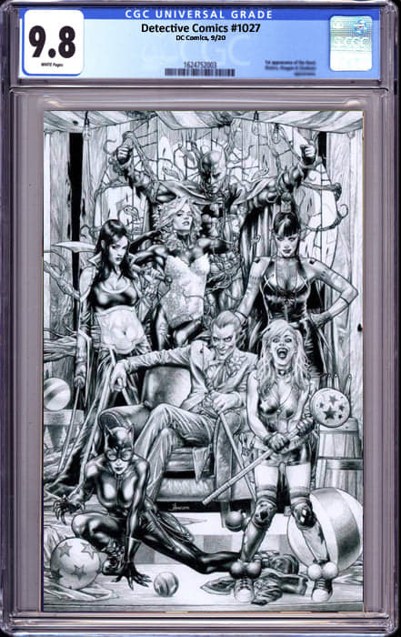 DETECTIVE COMICS #1027 JAY ANACLETO VIRGIN SKETCH EXCLUSIVE (11/15/2020) CGC 9.8