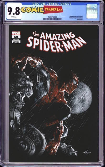 AMAZING SPIDER-MAN #50 GABRIELE DELLOTTO UNKNOWN EXCLUSIVE  (1/14/2021) CGC 9.8