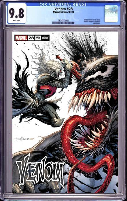 VENOM #28 TYLER KIRHAM UNKNOWN COMICS SECRET TRADE DRESS EXCLUSIVE 11/16/2020 CGC 9.8
