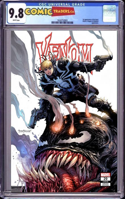 VENOM #29 TYLER KIRHAM UNKNOWN COMICS SECRTET TRADE DRESS EXCLUSIVE 1/21/2021 CGC 9.8