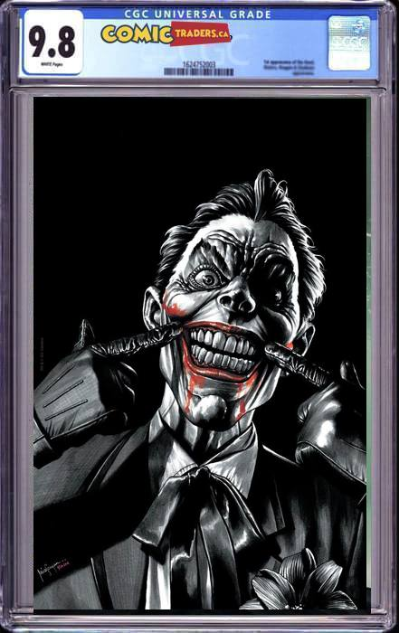 BATMAN #100 MICO SAUYAN ILLUMINATI VIRGIN COLOR SPLASH EXCLUSIVE (JOKER WAR) (12/6/2020)  CGC 9.8