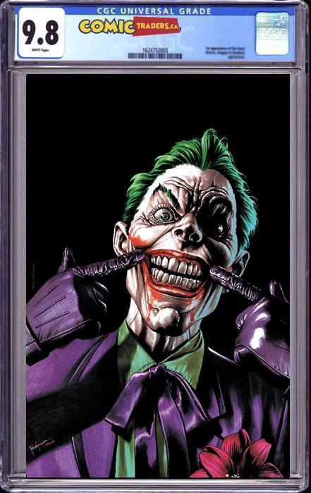 BATMAN #100 MICO SAUYAN ILLUMINATI VIRGIN EXCLUSIVE (JOKER WAR) (12/6/2020) CGC 9.8