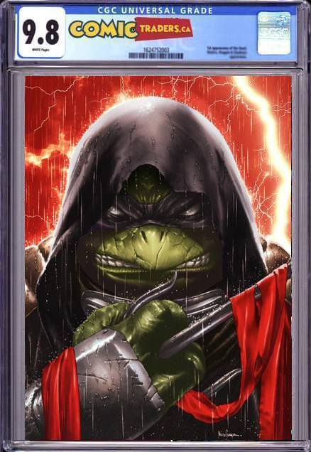 TMNT THE LAST RONIN #2 (OF 5) UNKNOWN COMICS MICO SUAYAN EXCLUSIVE VIRGIN VAR (04/27/2021) CGC 9.8