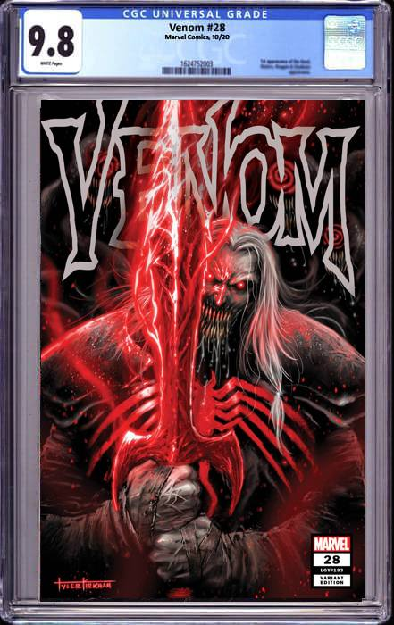 VENOM #28 TYLER KIRHAM UNKNOWN COMICS EXCLUSIVE 11/16/2020 CGC 9.8