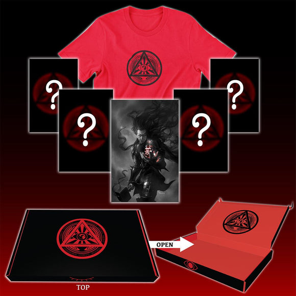 ILLUMINATI UNKNOWN MYSTERY BOX OCTOBER 5-BOOKS + T-SHIRT (10/21/2020)