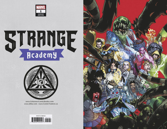STRANGE ACADEMY #1 4TH PTG VAR  UNKNOWN COMICS VIRGIN VAR 9/30/2020 BACKISSUE