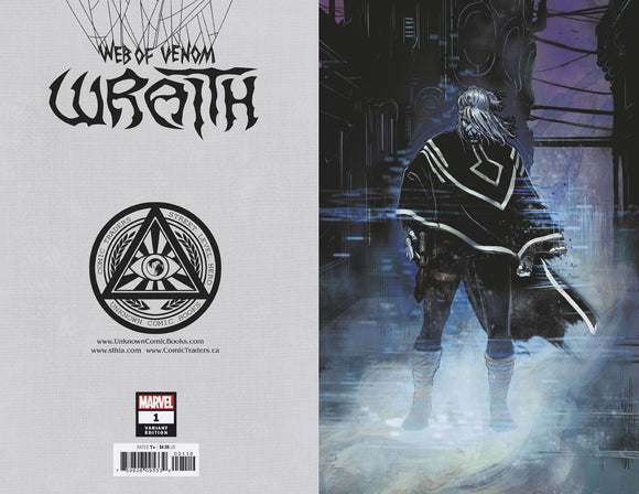 WEB OF VENOM WRAITH #1 2ND PTG VAR ILLUMINATTI VIRGIN EXCLUSIVE  BACKISSUE