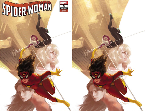 SPIDER-WOMAN #5 MIGUEL MERCADO UNKNOWN ILLUMINATI EXCLUSIVE BUNDLE (10/21/2020) 2-PACK BACKISSUE