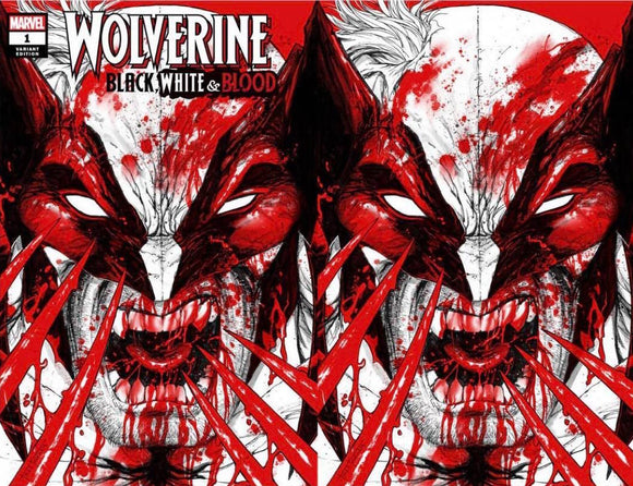 WOLVERINE BLACK WHITE BLOOD #1 (OF 4) TYLER KIRKHAM EXCLUSIVE BUNDLE (11/4/2020) 2-PACK BACKISSUE MISPRINT EDITION