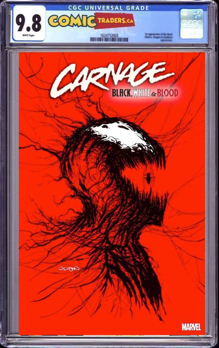 CARNAGE BLACK WHITE AND BLOOD #1 (OF 4) GLEASON VAR (06/24/2021) CGC 9.8