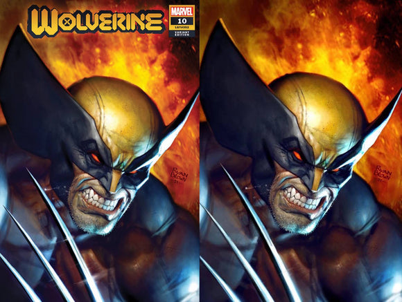 WOLVERINE #10 RYAN BROWN LLUMINATI EXCLUSIVE BUNDLE (2/24/2021) SHIPS (3/10/2021) 2-PACK BACKISSUE