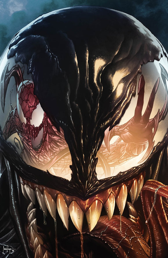 CARNAGE BLACK WHITE AND BLOOD #1 (OF 4) MICO SAUYAN VIRGIN ILLUMINATI EXCLUSIVE VAR (03/24/2021) SHIPS (04/10/2021)
