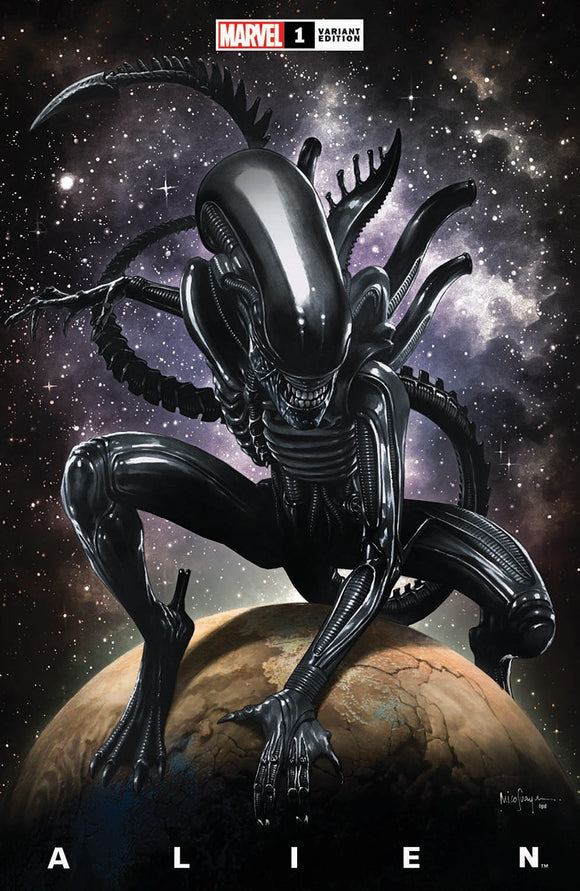 ALIEN #1 MICO SAUYAN ILLUMINATI EXCLUSIVE (03/24/2021) SHIPS (04/010/21)