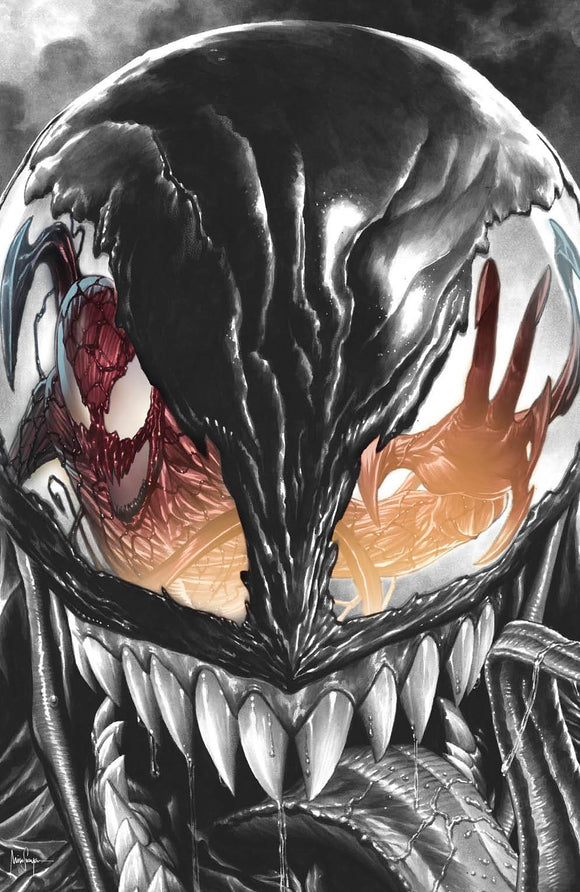 CARNAGE BLACK WHITE AND BLOOD #1 (OF 4) 2nd  PRINT MICO SAUYAN VIRGIN COLOR SPLASH ILLUMINATI EXCLUSIVE VAR (5/5/2021) SHIPS (5/21/2021)