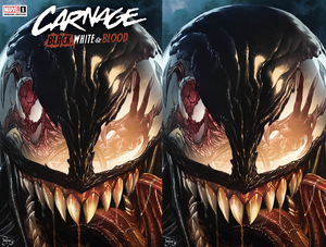 CARNAGE BLACK WHITE AND BLOOD #1 (OF 4) MICO SAUYAN ILLUMINATI EXCLUSIVE BUNDLE (03/24/2021) SHIPS (04/10/2021) 2-PACK BACKISSUE