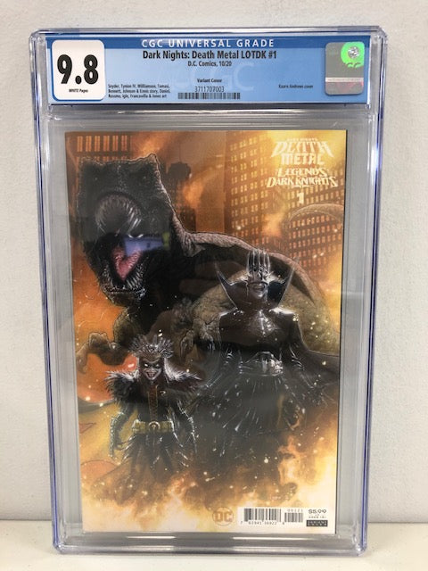 DARK NIGHTS DEATH METAL LEGENDS OT DARK KNIGHTS #1 CVR B 1:25 CGC 9.8