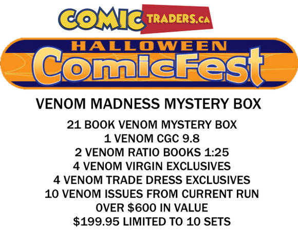 HALLOWEEN COMIC FEST 2020 VENOM MADNESS MYSTERY BOX 21 BOOK BUNDLE SHIPS BY OCT 31ST