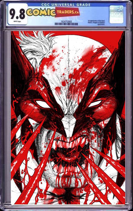 WOLVERINE BLACK WHITE BLOOD #1 (OF 4) TYLER KIRKHAM VIRGIN EXCLUSIVE BUNDLE (11/4/2020) CGC 9.8