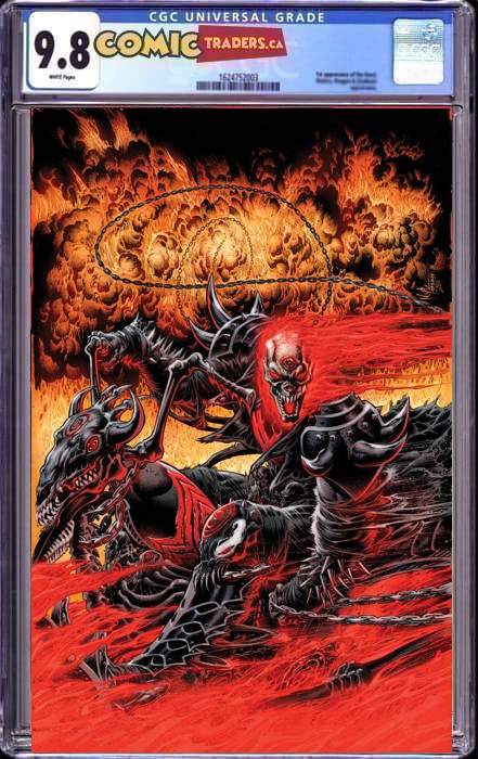 GHOST RIDER ANNUAL #1 HOTZ KNULLIFIED VIRGIN VAR 3/30/2021 CGC 9.8