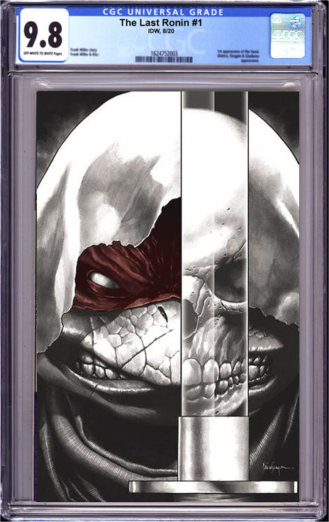 TMNT THE LAST RONIN #1 (OF 5) CGC 9.8 B MICO SUAYAN VIRGIN COLOR SPLASH EXCLUSIVE 12/28/20