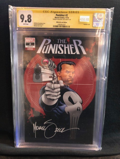 PUNISHER #2 SIGNATURE SERIES MICHAEL ZECK CGC 9.8 INSTOCK