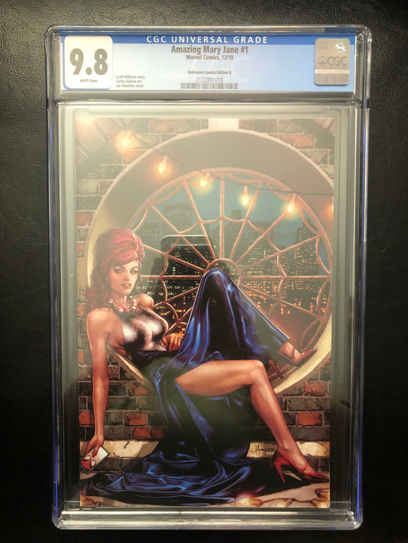 AMAZING MARY JANE #1 UNKNOWN COMICS EDITION B CGC 9.8 INSTOCK