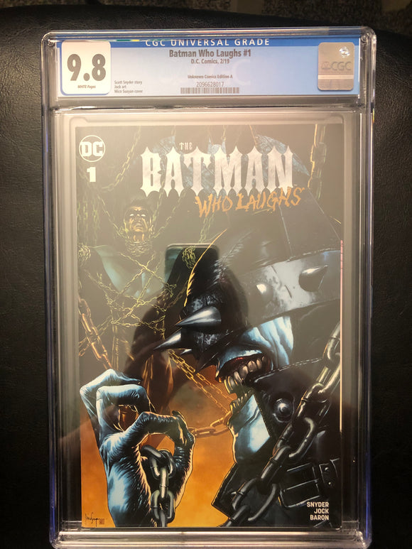 BATMAN WHO LAUGHS #1 UNKNOWN COMICS EDITION A CGC 9.8 INSTOCK