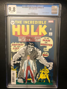 INCREDIBLE HULK: FACSIMILE EDITION #1 CGC 9.8 INSTOCK