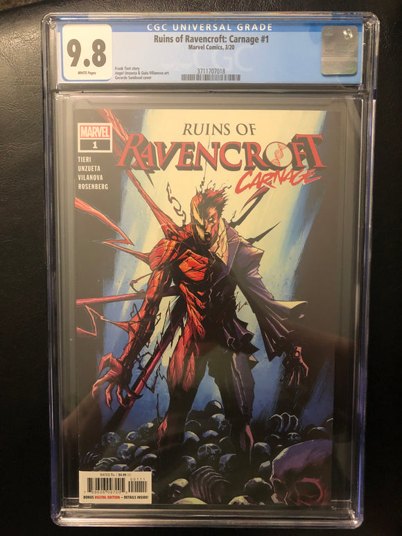 RUINS OF RAVENCROFT: CARNAGE #1 CGC 9.8 INSTOCK