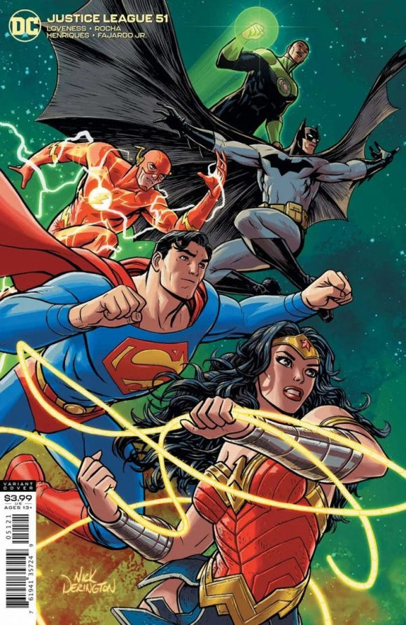 JUSTICE LEAGUE #51 VAR ED 8/18/2020 BACKISSUE