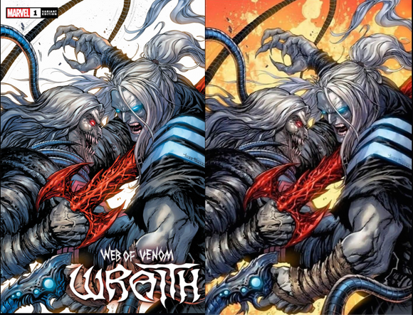 WEB OF VENOM WRAITH #1 TYLER KIRKHAM UNKNOWN ILLUMINATI SECRET COVER EXCLUSIVE SET (9/9/2020) 2-PACK BACKISSUE