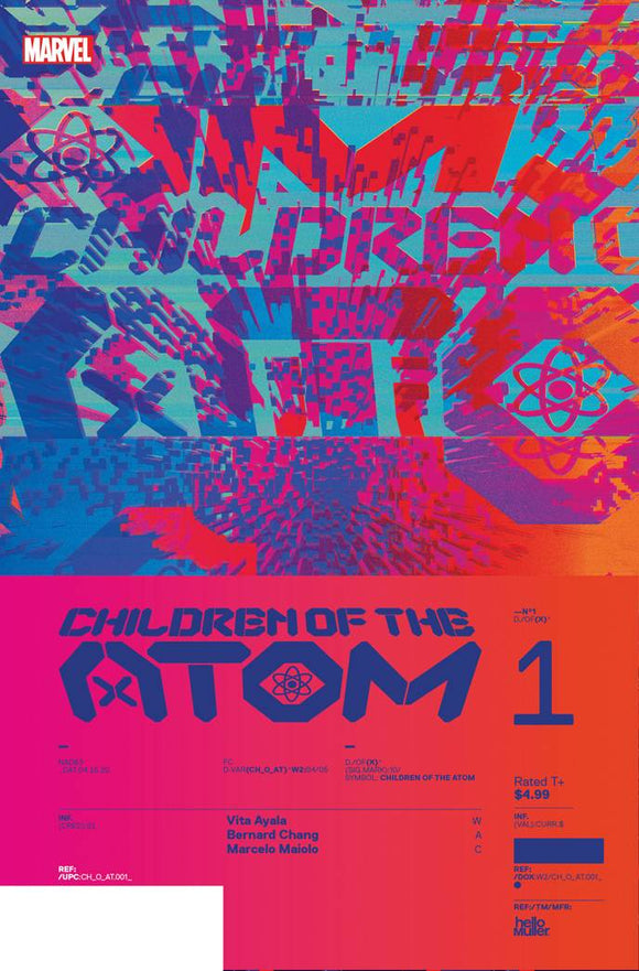 CHILDREN OF ATOM #1 MULLER DESIGN VAR 1:10 (1/6/2021) DELAYED (3/10/2021)