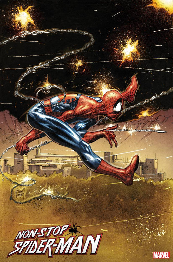 NON-STOP SPIDER-MAN #1 KUBERT VAR 1:50 (1/27/21) DELAYED (03/03/21) SHIP DATE (03/20/21)