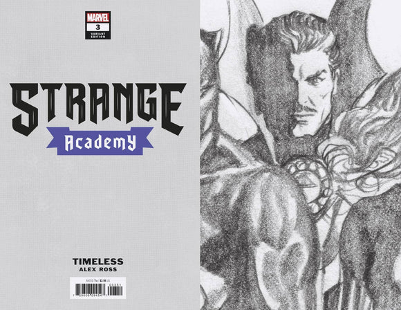 STRANGE ACADEMY #3 ROSS DR STRANGE TIMELESS VIRGIN SKETCH VA 1:100 BACKISSUE