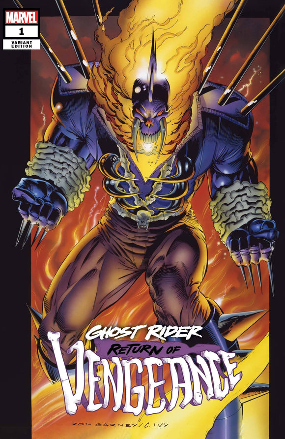 GHOST RIDER RETURN OF VENGEANCE #1 GARNEY HIDDEN GEM VAR 1:50 BACKISSUE