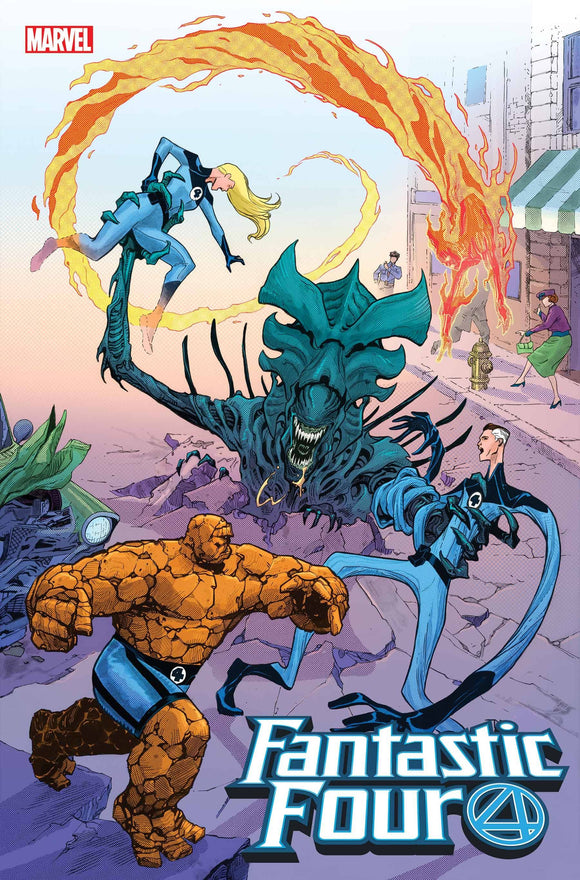 FANTASTIC FOUR #28 CASSARA MARVEL VS ALIEN VAR EMP (1/27/21)