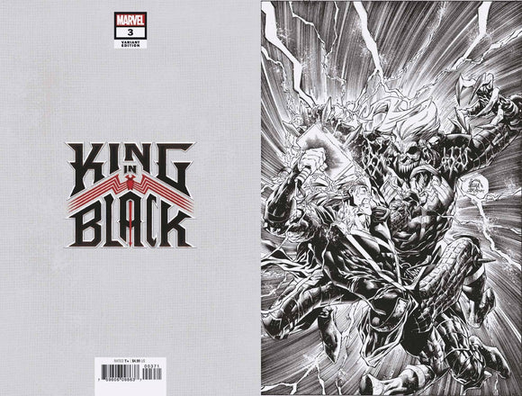 KING IN BLACK #3 (OF 5) STEGMAN VIRGIN SKETCH VAR 1:500 (1/20/2021)