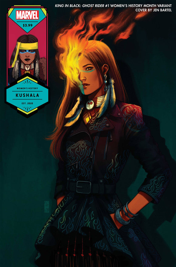 KING IN BLACK GHOST RIDER #1 BARTEL WOMENS HISTORY VAR (03/31/2021)