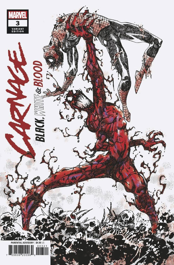 CARNAGE BLACK WHITE AND BLOOD #3 (OF 4) MCREA VAR 1:25 (5/5/2021)