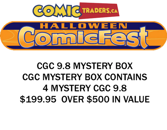 HALLOWEEN COMIC FEST 2020 CGC MYSTERY BOX  SHIPS BY OCT 31ST