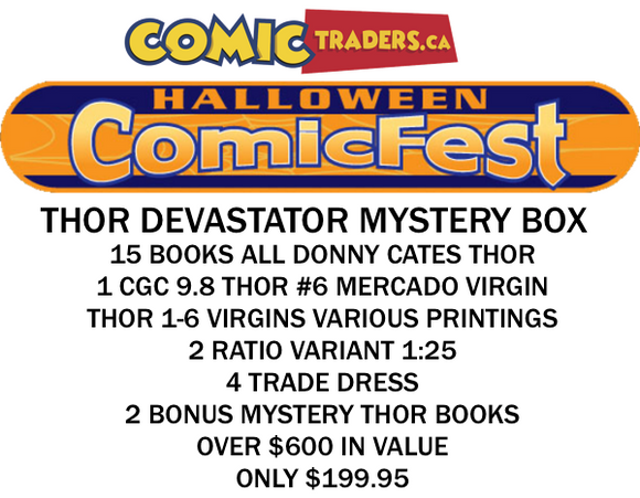 HALLOWEEN COMIC FEST 2020 THOR DEVASTATOR MYSTERY BOX 15 BOOK BUNDLE SHIPS BY OCT 31ST