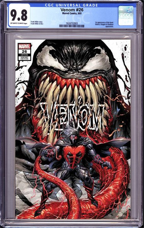 VENOM #26 CGC 9.8 CLASSIFIED TYLER KIRKHAM UNKNOWN COMICS EXCLUSIVE VAR WHITE TD (09/15/2020)