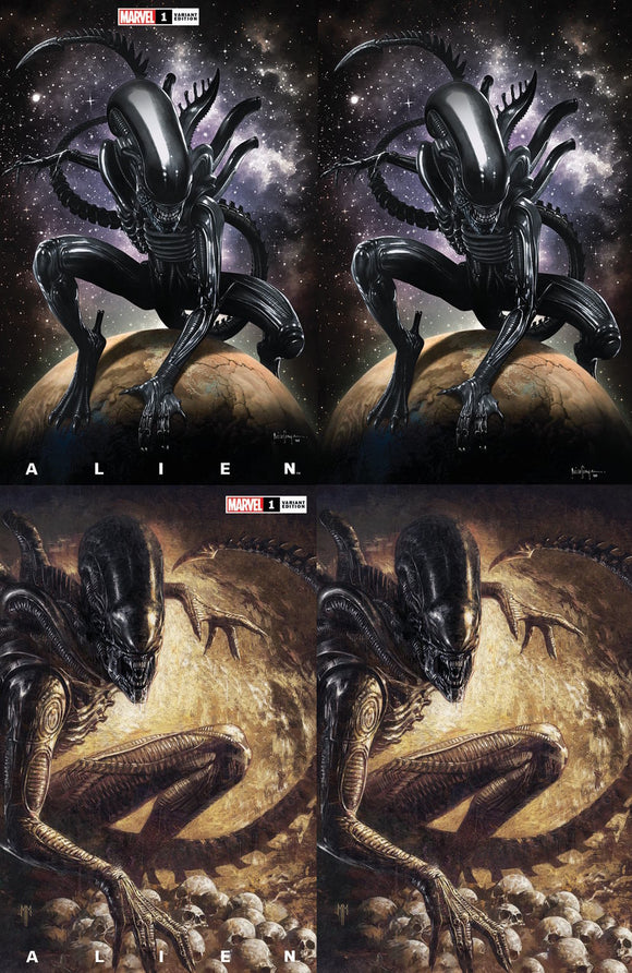 ALIEN #1 MICO SAUYAN /MARCO MASTRAZZO ILLUMINATI EXCLUSIVE BUNDLE (03/24/2021) SHIPS (04/010/21) 4-PACK