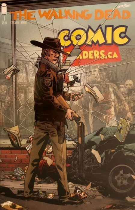 WALKING DEAD #1 15TH ANNIVERSARY COMICTRADERS RETAILER VARIANT COVER BACKISSUE