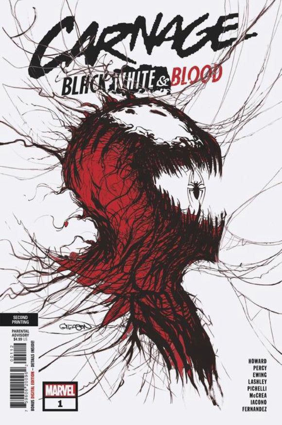 CARNAGE BLACK WHITE AND BLOOD #1 (OF 4) 2ND PTG GLEASON VAR (5/5/2021)